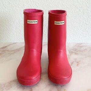 HUNTER || Kids First Rain Boots Matte Pink